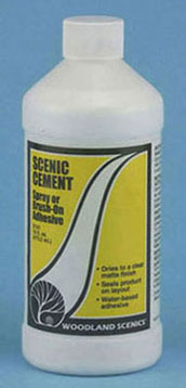 Dollhouse Miniature Scenic Cement 16oz..