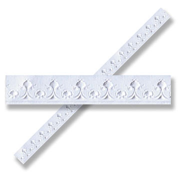 Dollhouse Miniature Ceiling/Wall Molding, 6pc