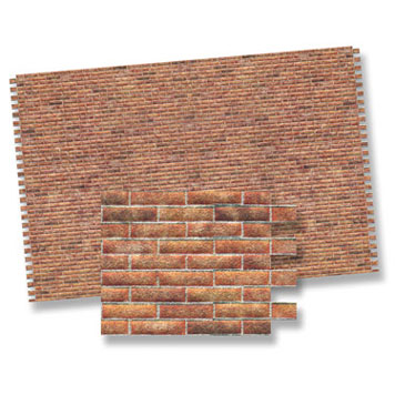 Dollhouse Miniature Brick Wall Material