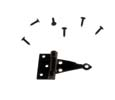 Dollhouse Miniature T-Hinges, Black 2Pr With 24 Nails