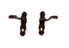 Dollhouse Miniature French Door(Lever) Handles, Bronze, 1 Pair