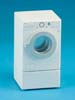 Dollhouse Miniature Modern Front Load, Washer, White