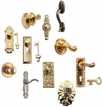 Dollhouse Miniature Hardware, Knobs, Hinges and Handles