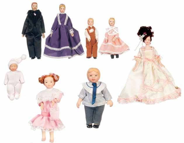 Dollhouse Miniature Dolls