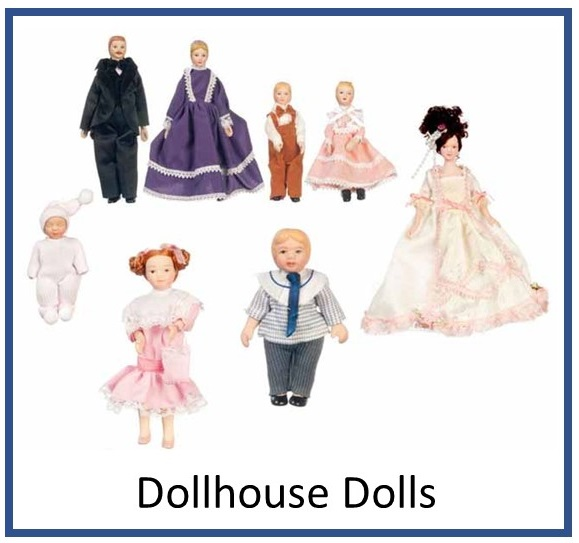 Dollhouse Miniature Dolls and Families