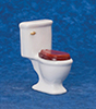 Dollhouse Miniature Toilet, White