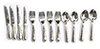 Dollhouse Miniature Silverware Set, 12 pcs.