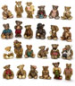 "Dollhouse Miniature1 1/2"" Tiny Bears, 24 Assorted"