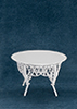 Dollhouse Miniature Gathering Table, White Wire