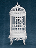 Dollhouse Miniature Floor Standing Birdcage