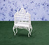 Dollhouse Miniature Bird Cage, White Wire