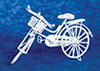 Dollhouse Miniature Bicycle, White