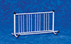 Dollhouse Miniature Bike Rack, Silver