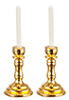 Dollhouse Miniature Brass Candlesticks, 2 pc.