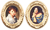 Dollhouse Miniature Gold Oval Frames, 2 pc