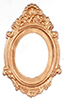 Dollhouse Miniature Antique Oval Frame/Gold