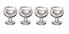 Dollhouse Miniature 1/2 Inch Wine Glasses, Set of 4