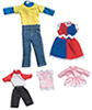 Dollhouse Miniature Autumn Clothing, 5 Outfits