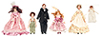 Dollhouse Miniature Victorian Family with Maid, 6 Pc