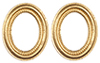 Dollhouse Miniature Small Gold Oval Frames, 2 pc