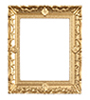 Dollhouse Miniature Large Gold Frame