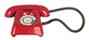 Dollhouse Miniature Telephone, Red