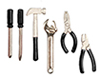 Dollhouse Miniature Tool Set, 6 pc