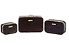 Dollhouse Miniature Suitcase Set, 3 pc