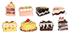 Dollhouse Miniature Assorted Cakes, 8 pc