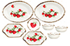 Dollhouse Miniature Bowls/Oval Plate, Strawberry, 8pc