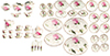 Dollhouse Miniature Rose Dinner Set, 50 pc