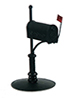 Dollhouse Miniature Rural Mailbox, Black