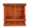 Dollhouse Miniature Store Display Case, Walnut