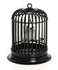 Dollhouse Miniature Birdcage with Bird, Black