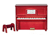 Dollhouse Miniature Upright Piano, Mahogany