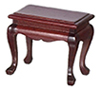 Dollhouse Miniature End Table, Mahogany
