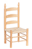 Dollhouse Miniature Ladder Back Side Chair, Oak