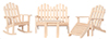 Dollhouse Miniature Adirondack Furniture Set, 5 pc, Unfinished