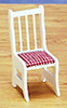 Dollhouse Miniature Kitchen Chairs, White, 4Pc