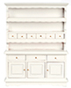 Dollhouse Miniature Hutch, White