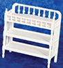 Dollhouse Miniature Victorian Changing Table, White