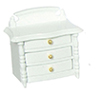 Dollhouse Miniature Night Stand, White