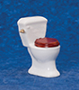 Dollhouse Miniature Bathroom Toilet, White