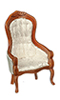 Dollhouse Miniature Victorian. Gents Chair, Walnut