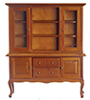 Dollhouse Miniature China Cabinet, Walnut