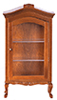 Dollhouse Miniature Curio Cabinet, Walnut