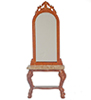 Dollhouse Miniature Lincoln Hall Stand with Mirror