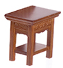 Dollhouse Miniature Carved End Table, Walnut