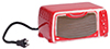 Dollhouse Miniature Toaster Oven, Red