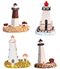 Dollhouse  Poly Lighthouses, 4Pc